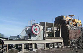 Mobile jaw crushing station